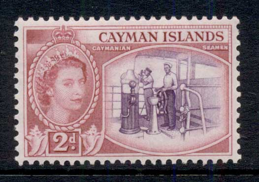 Cayman Is 1953-59 QEII Pictorial, 2d Seamen MLH