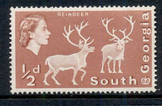 South Georgia 1963-69 QEII Pictorial, 0.5d Reindeer MUH