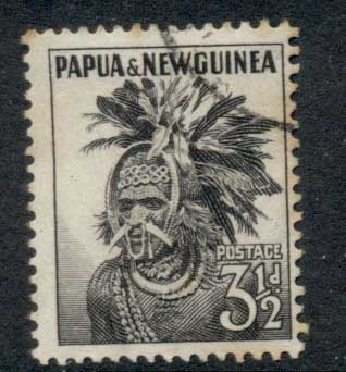 PNG 1958-60 Chimbu Headress 3.5d FU