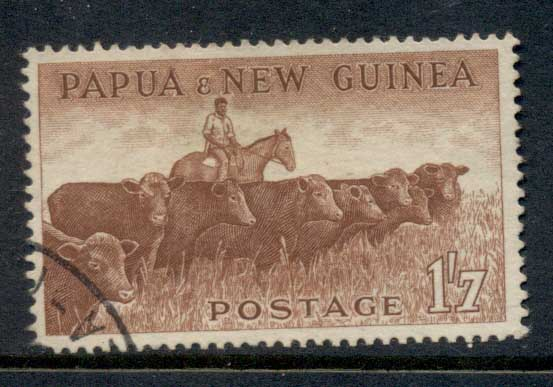 PNG 1958-60 Cattle 1/7d FU