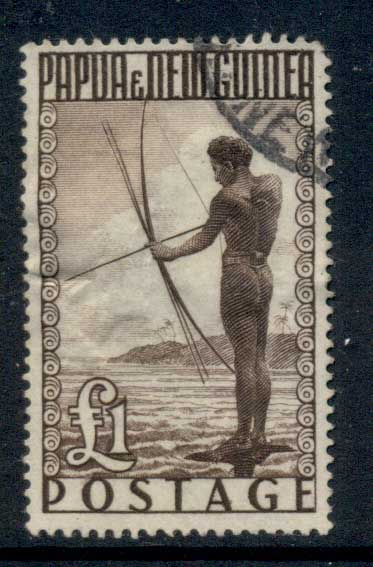 PNG 1952 Fisherman 1 pound FU