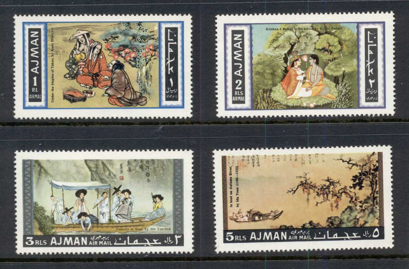 Ajman 1967 Mi#176-179 Asian Painting MLH