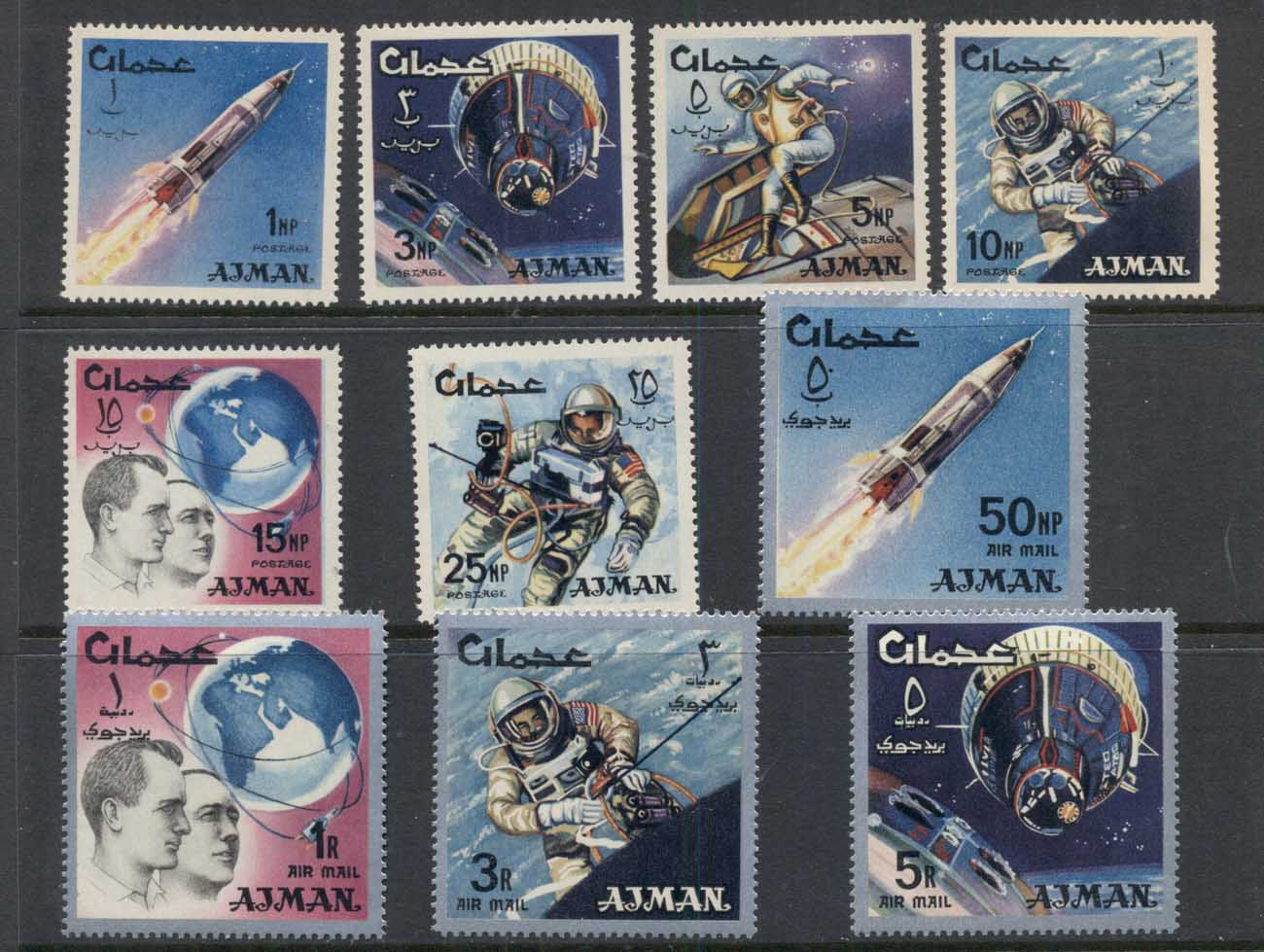 Ajman 1966 Mi#93-102 Space Research MUH
