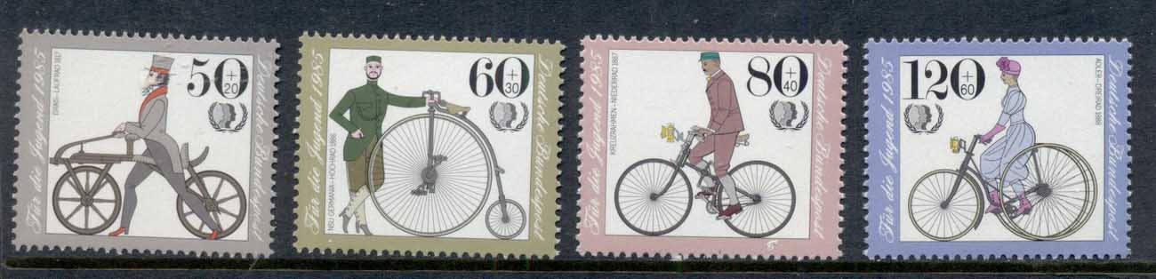 Germany 1985 Welfare, Vintage Bicycles MUH