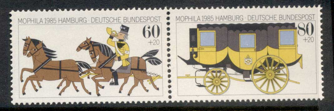 Germany 1985 Welfare, Horse & Carriage MUH