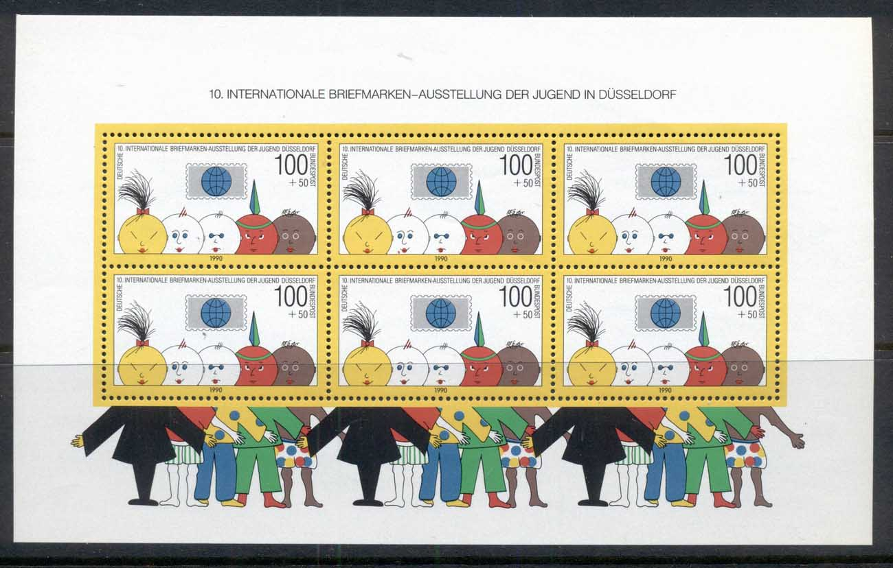 Germany 1990 Welfare, Philatelic Promotion MS MUH