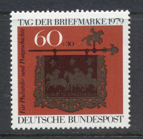 Germany 1979 Welfare, Stamp day MUH