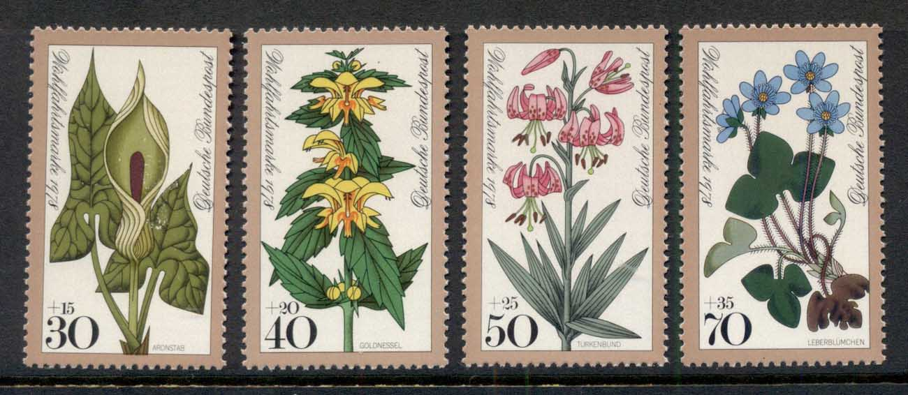 Germany 1978 Welfare, Woodland Flowers MUH