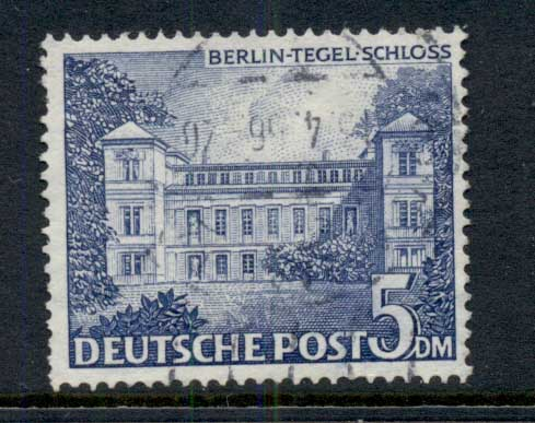 Germany Berlin 1949 Tegel Castle 5dm (faults) FU