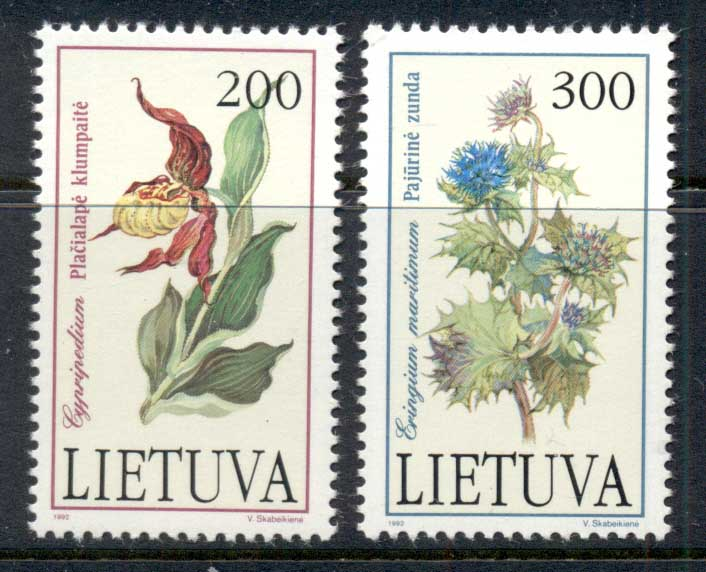 Lithuania 1992 Flowers MUH