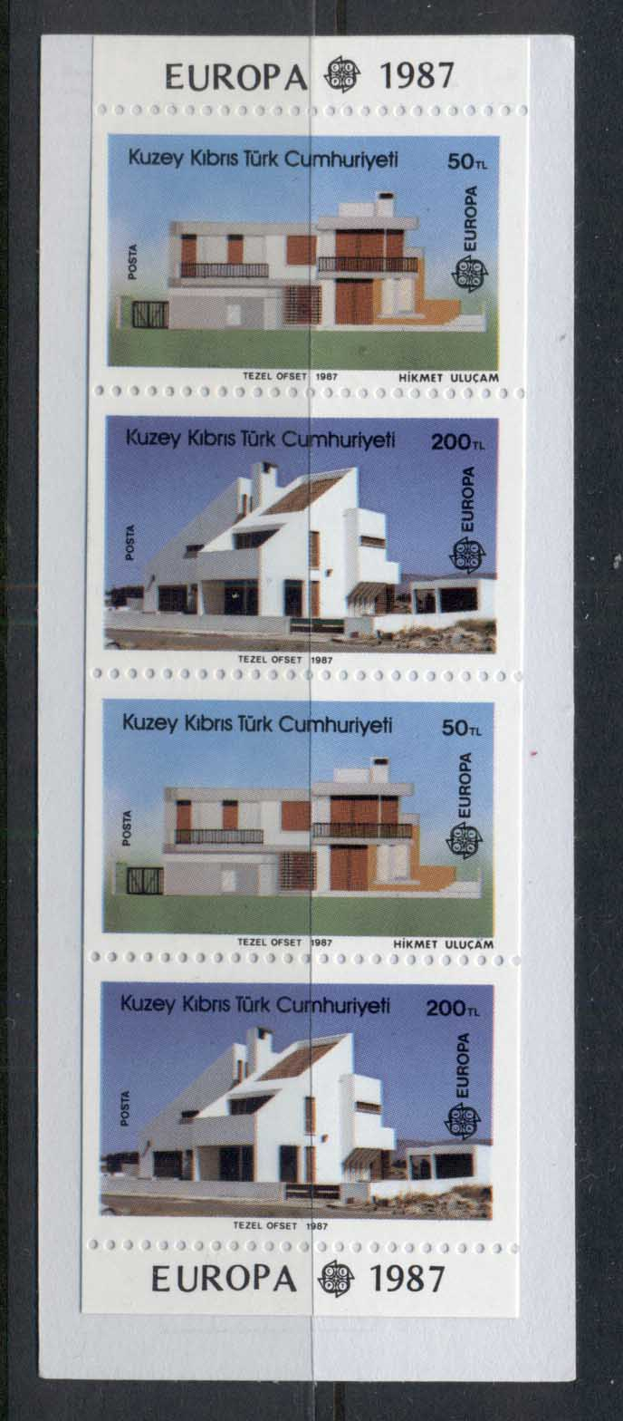Cyprus Turkish 1987 Europa, Modern Architecture booklet MUH