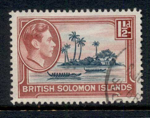 Solomon Is 1939-51 KGVI Artificial Island, Mailata 1.5d FU