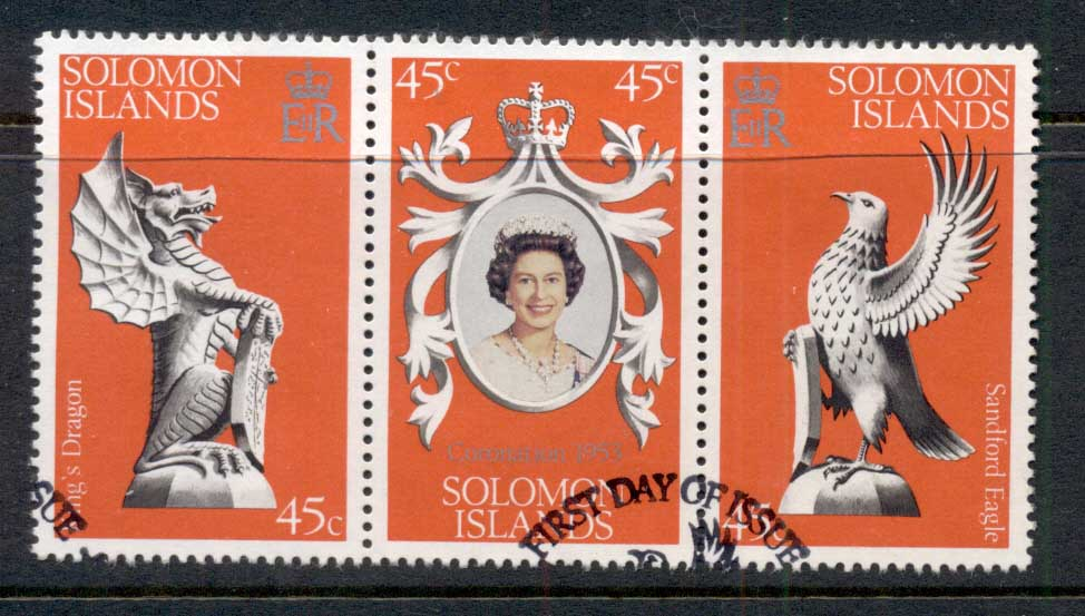 Solomon Is 1978 QEII Coronation 25th Anniv FU