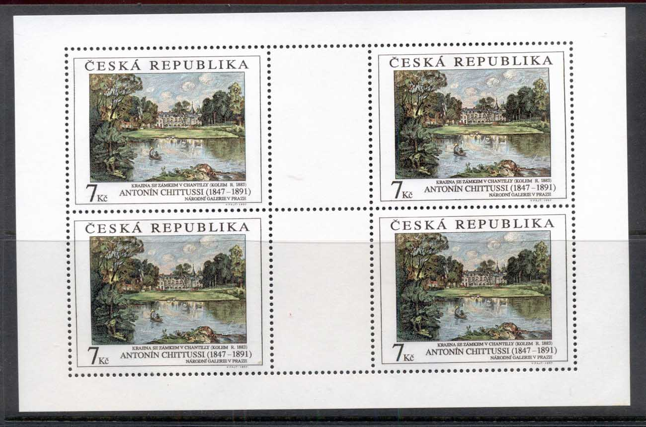 Czech Republic 1997 Art, Landscape sheet 4 MUH