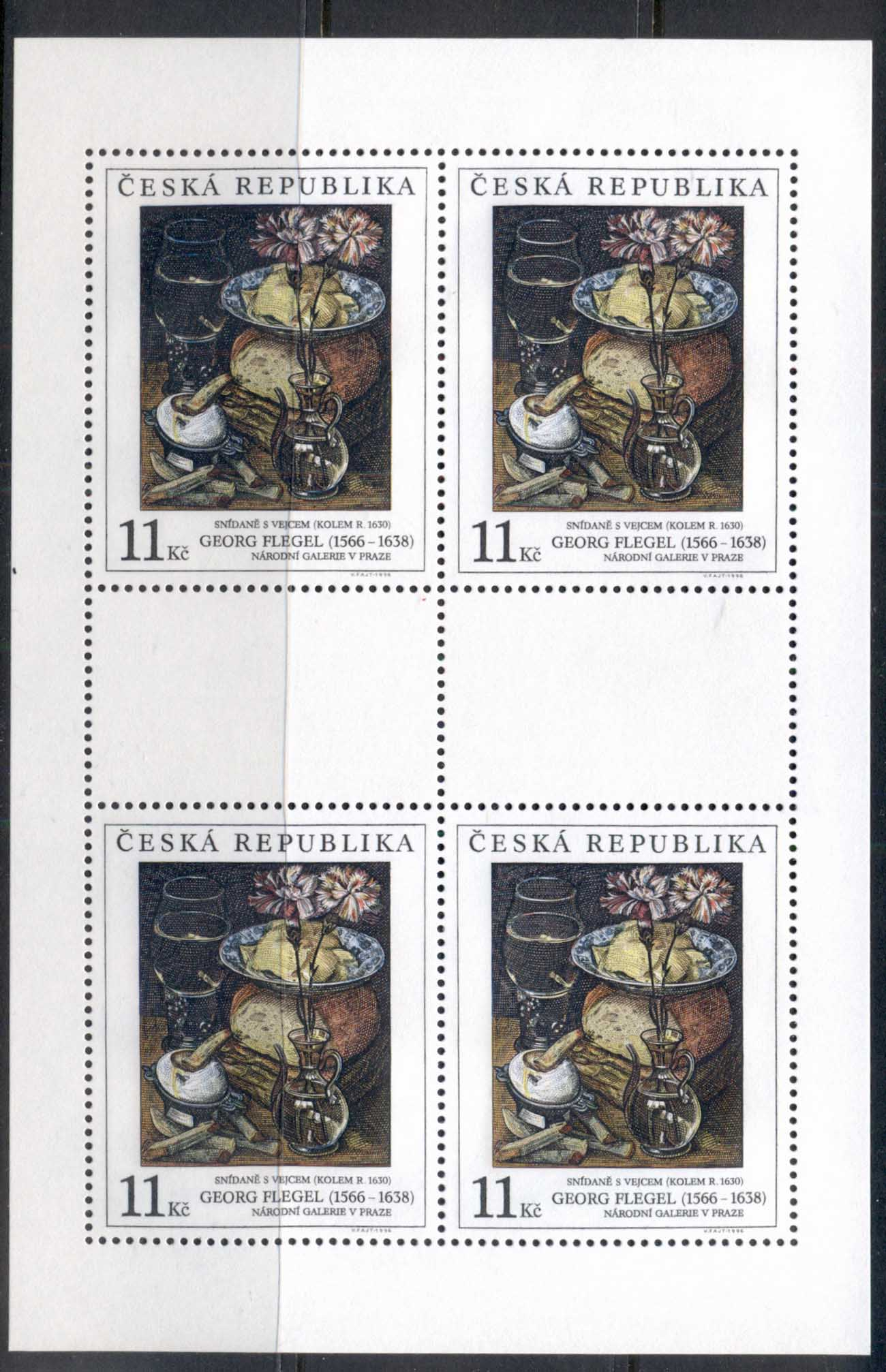 Czech Republic 1996 Art, Breakfast sheet 4 MUH