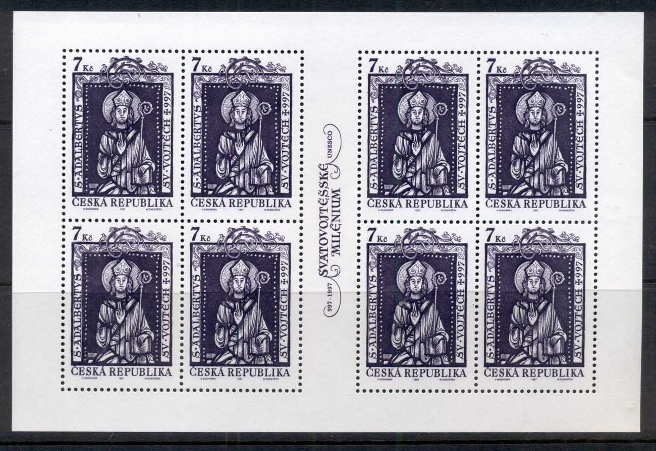 Czech Republic 1997 Art, St Adalbert sheet 8 MUH