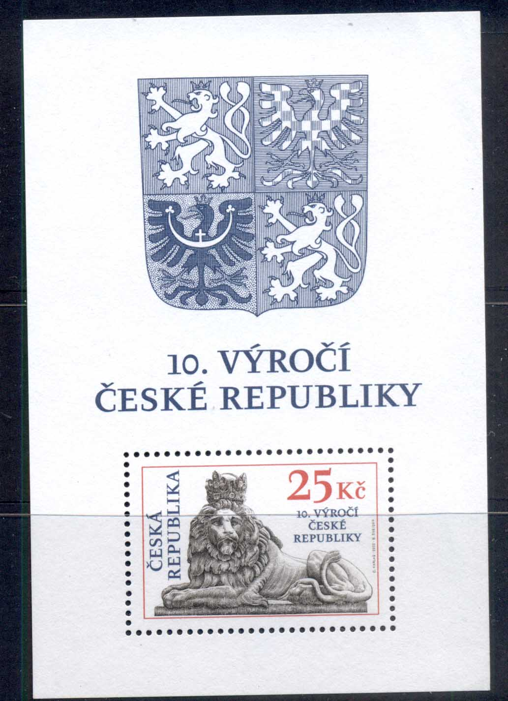 Czech Republic 2003 Czech Rep. 10th Anniv. MS MUH