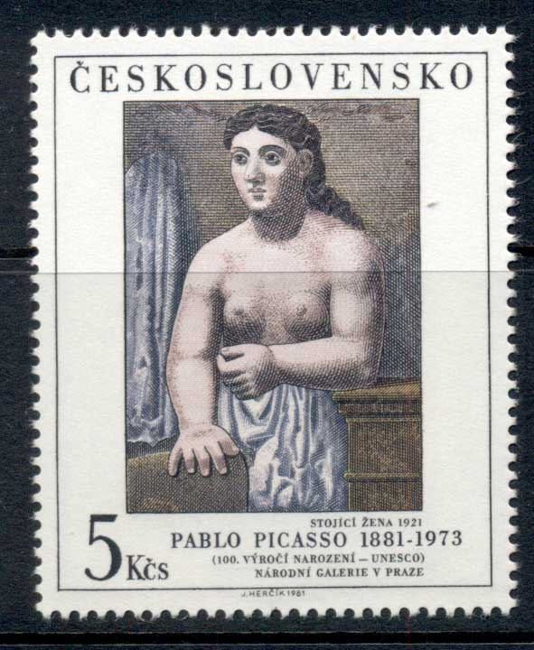 Czechoslovakia 1981 Art, Standing Woman, Picasso MUH