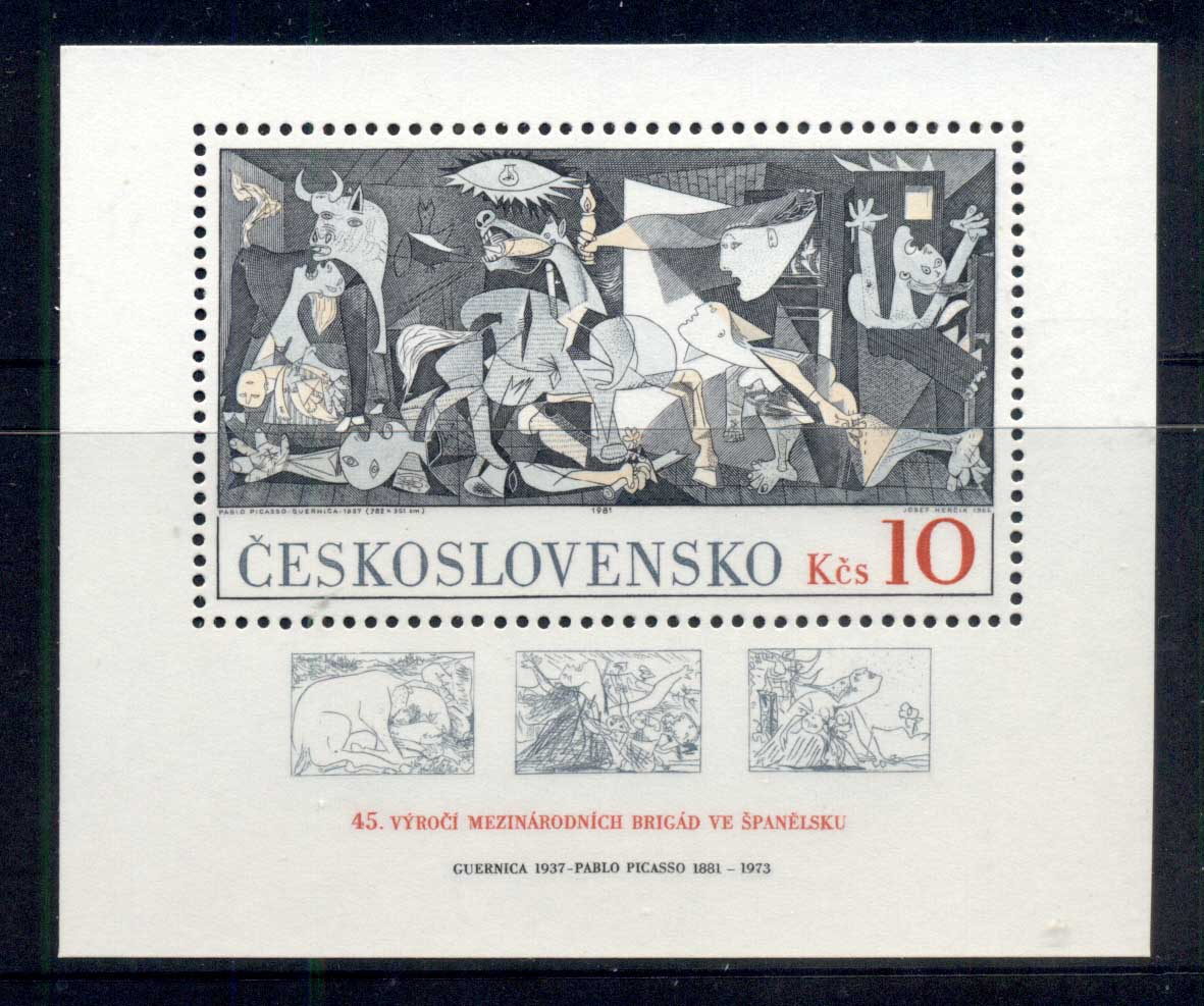 Czechoslovakia 1981 Guernica, Picasso MS MUH
