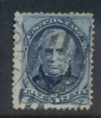 USA 1879 Sc#185 5c Zachary Taylor, Large Banknote FU