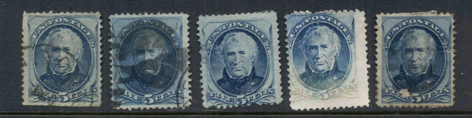 USA 1879 Sc#185 5c Zachary Taylor, Large Banknote, seconds FU