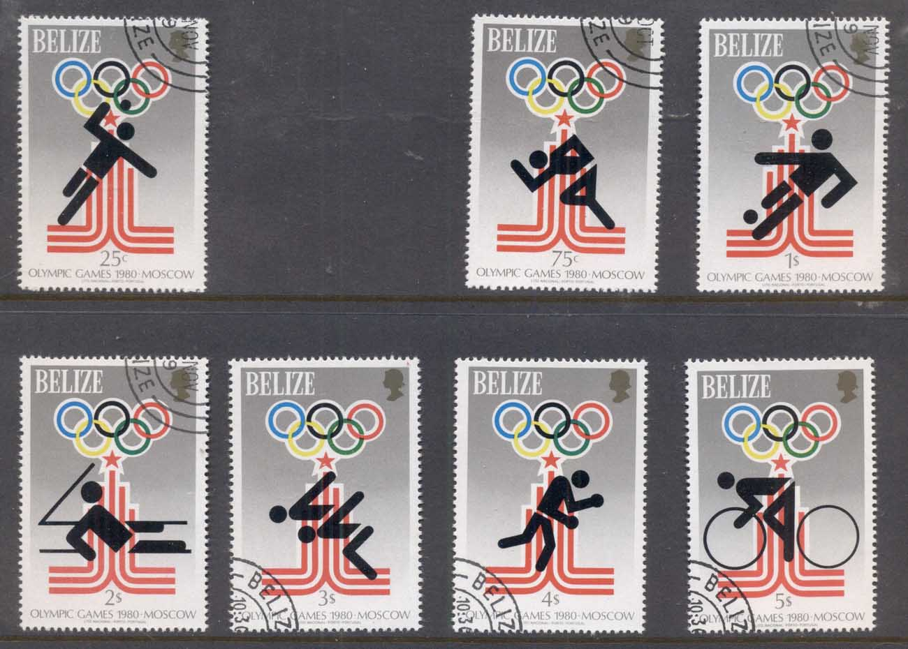 Belize 1979 Summer Olympics Moscow (7/8, no 50c) CTO