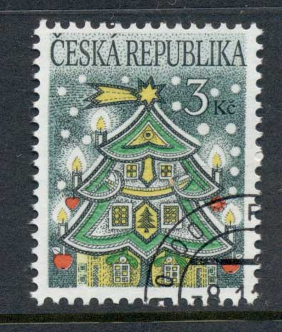 Czech Republic 1995 Xmas CTO