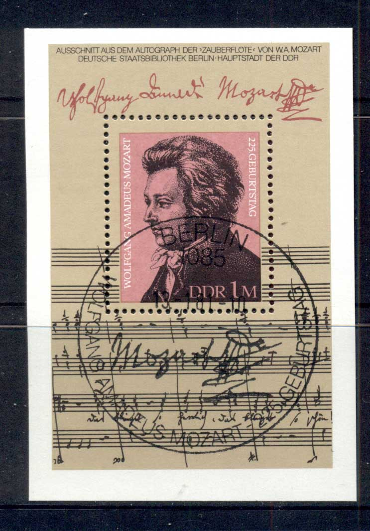 Germany DDR 1981 Mozart MS CTO
