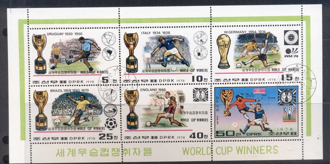 South East Asia 1978 World Cup Soccer Winners sheetlet CTO