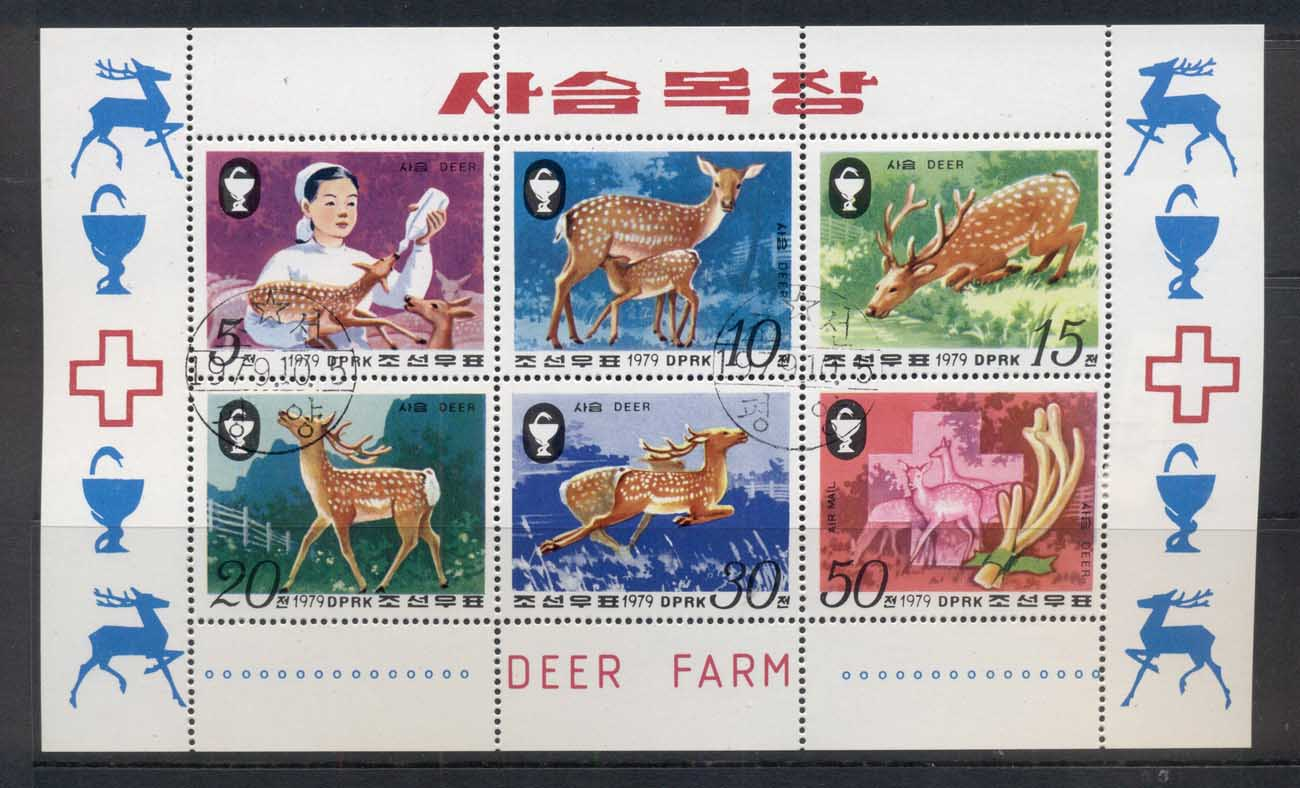 South East Asia 1979 Sika Deer sheetlet CTO