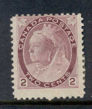 Canada 1898-1902 QV Portrait 2c purple MLH