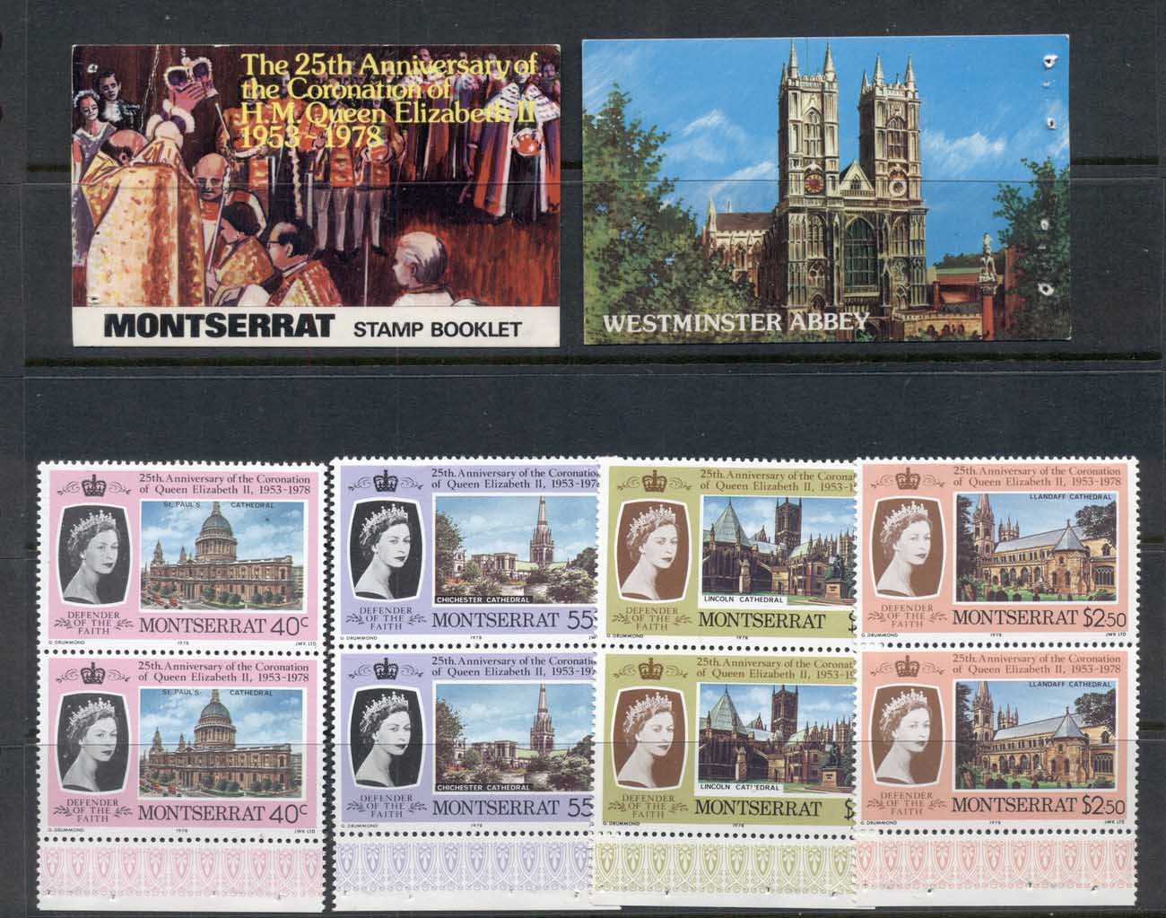Montserrat 1978 QEII Coronation 25th Anniv. Exploded booklet MUH