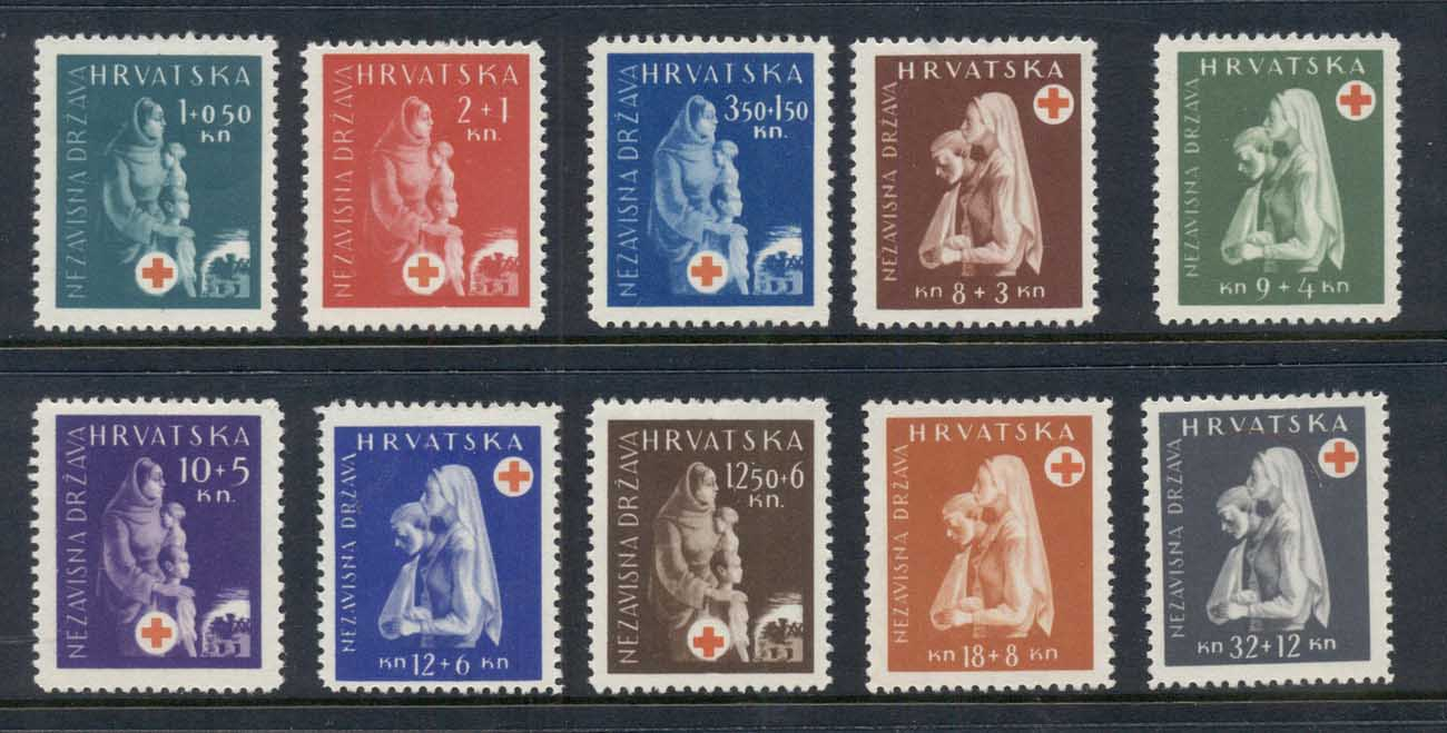 Croatia 1943 Red Cross MLH