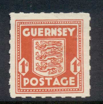 Guernsey 1941-44 Guernsey Occupation 1d MLH