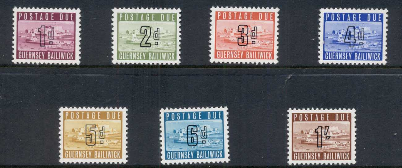 Guernsey 1969 Postage Dues MUH