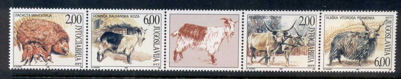 Yugoslavia 1999 Farm Animals MUH