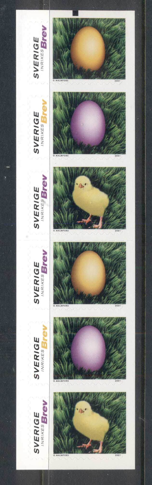 Sweden 2001 Easter, Bird booklet MUH