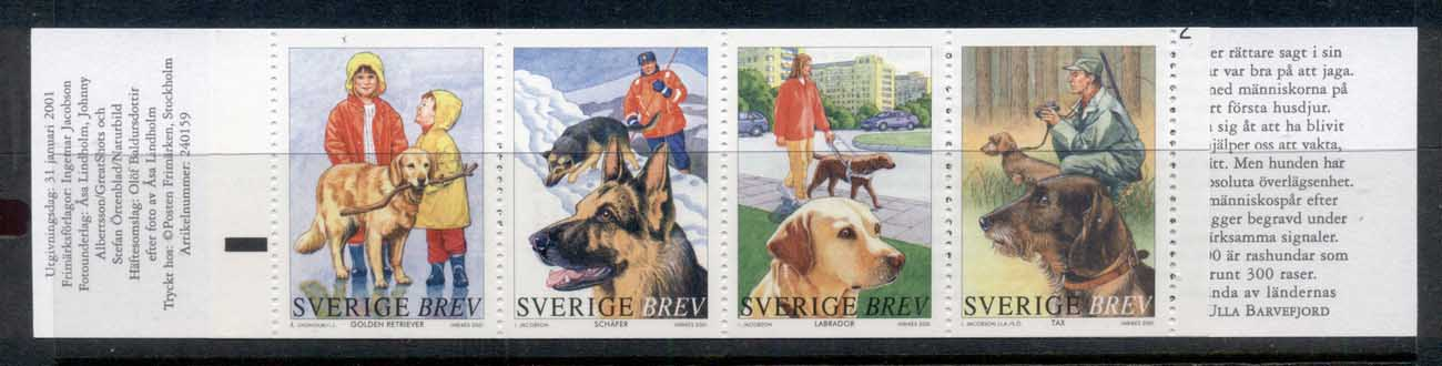 Sweden 2001 Working Dogs booklet MUH