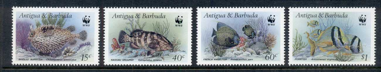 Antigua & Barbuda 1987 WWF Marine Life Fish MUH