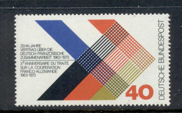 Germany 1973 Franco-German Cooperation MUH