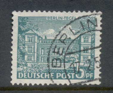 Germany Berlin 1949 Buildings 5pf FU