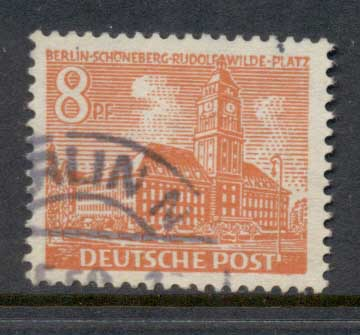 Germany Berlin 1949 Buildings 8pf FU
