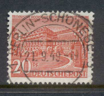 Germany Berlin 1949 Buildings 20pf FU