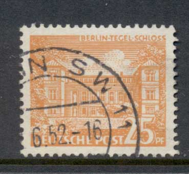 Germany Berlin 1949 Buildings 25pf FU