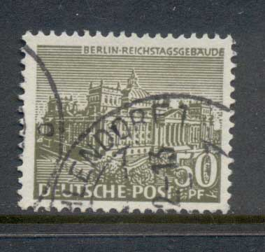 Germany Berlin 1949 Buildings 50pf FU