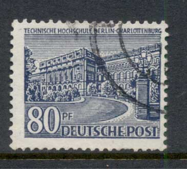Germany Berlin 1949 Buildings 80pf FU