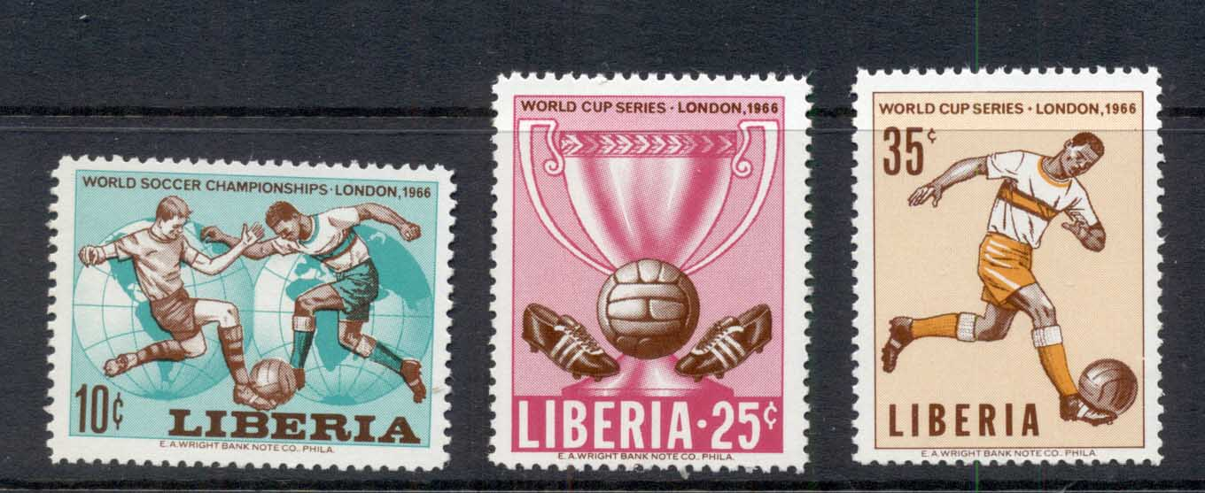 Liberia 1966 World Cup Soccer Wembly MUH