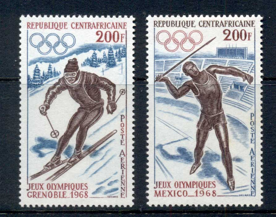 Central African Republic 1968 Winter Olympics MUH