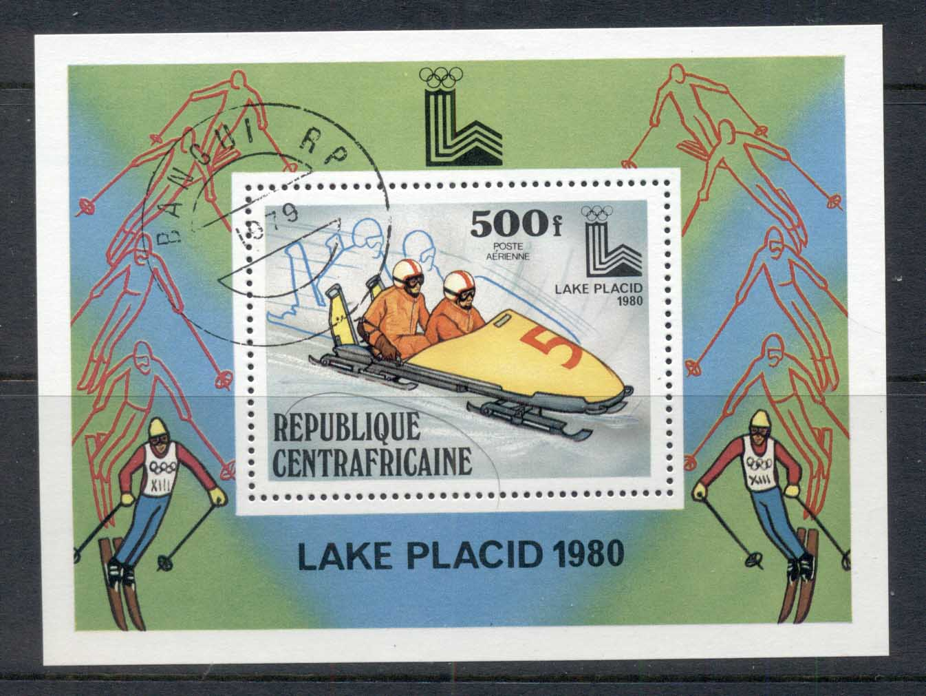 Central African Republic 1980 Winter Olympics Lake Placid MS CTO