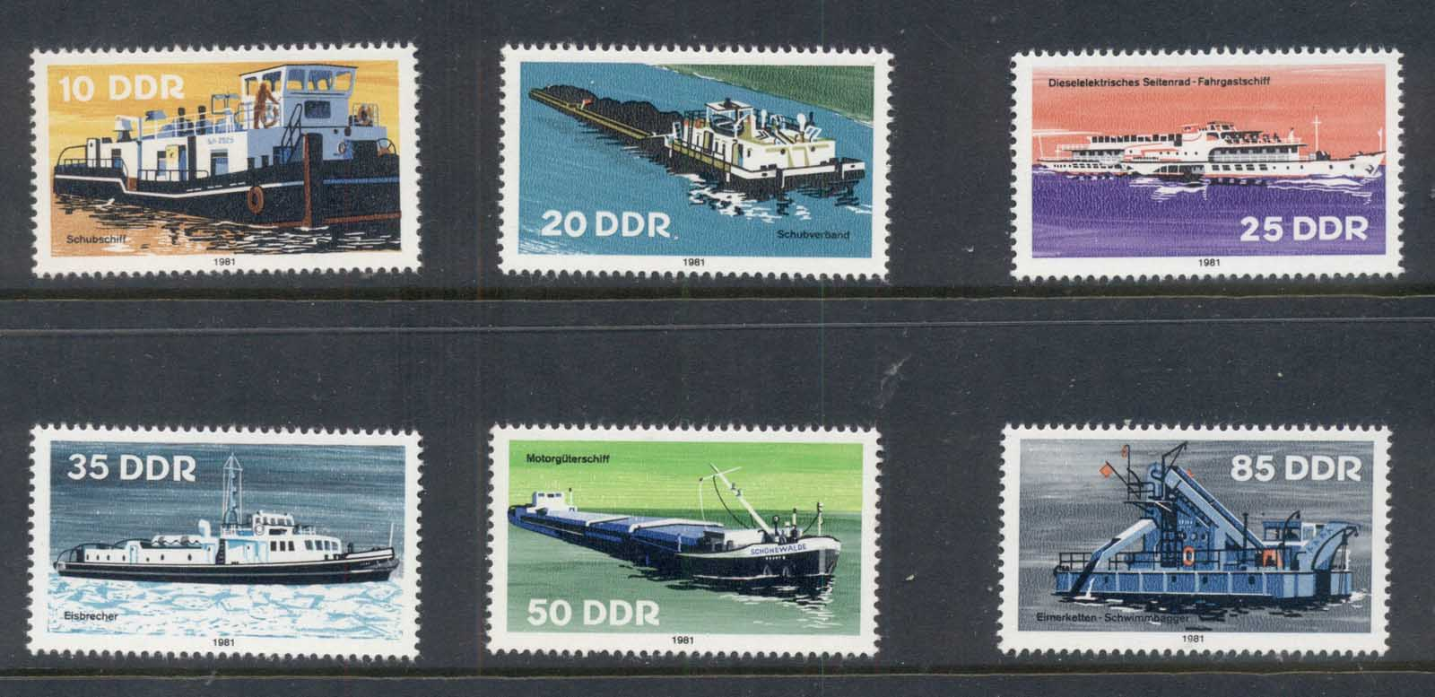 Germany DDR 1981 Ships, Boats MUH